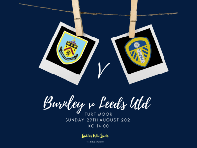 Burnley v Leeds United with club badges